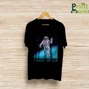 I Need Space Black T-Shirt