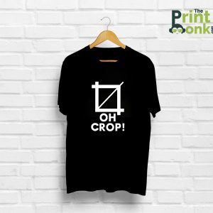 Oh Crop Black T-Shirt