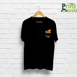 Pocket Pooh Black T-Shirt Pocket Design