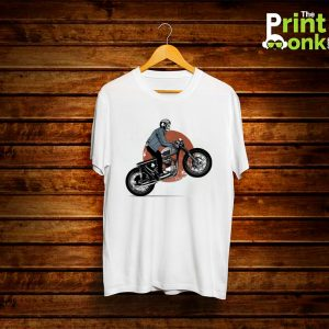 Skull Bike White T-Shirt