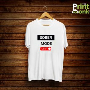 Sober Mode Off White T-Shirt