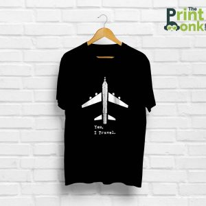 Yes I Travel Black T-Shirt