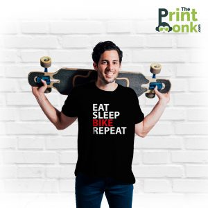 Eat Sleep Bike Repeat Black T-Shirt