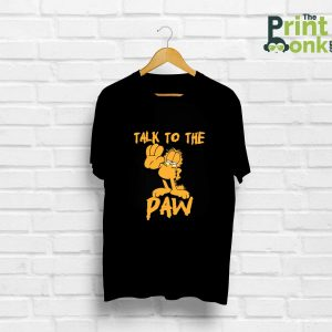 Talk To The Paw Black T-Shirt