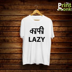 Kafi Lazy White T-Shirt