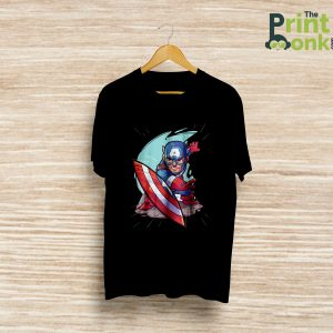 Captain America Black T-Shirt