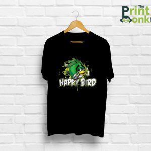 Happy Bird Black T-Shirt