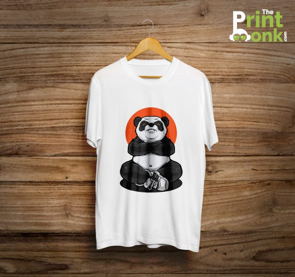 Meditation Panda White T-Shirt