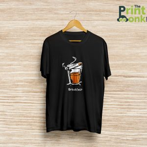 Chai Sutta Breakfast Black T-Shirt