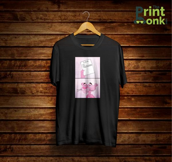 To Do List Pink Panther T-Shirt