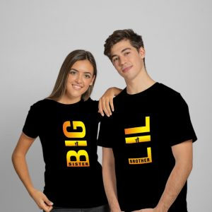 Big Sister & Lil Brother Black T-Shirt
