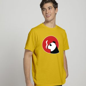 smoke panda yellow t-shirt