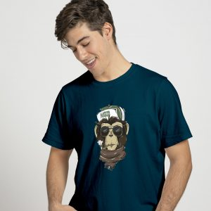 weed monkey navy blue